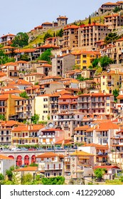 Arachova, Greece.  A village on the green slopes of Parnassus Mountains, Greece