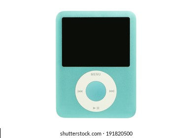 ARAD, ROMANIA - August 5, 2012: iPod nano 3G. Studio shot, isolated on white background.