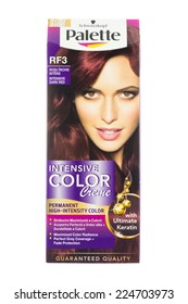ARAD, ROMANIA - October 15, 2014: Schwarzkopf Palette Intensive Color Creme.