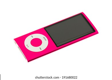 ARAD, ROMANIA - September 25, 2011: iPod nano 5G. Studio shot, isolated on white background.