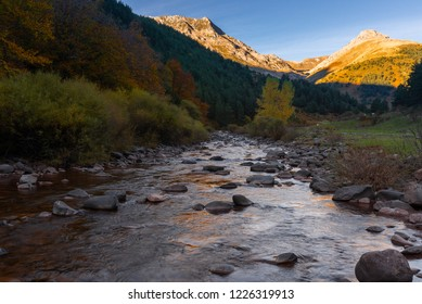 Aragon Subordan river at Hecho valley, Huesca, Spain