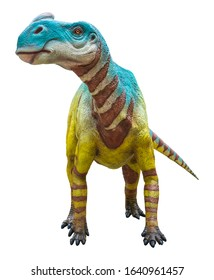 Aralosaurus was a herbivore genus of Hadrosaurid dinosaur that lived during the Late Cretaceous, Aralosaurus isolated on white background with clipping path