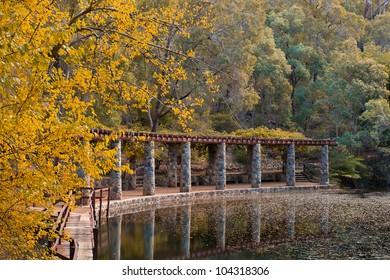 Araluen Botanic Gardens, a beautiful park near in Roleystone, near Armadale in Western Australia
