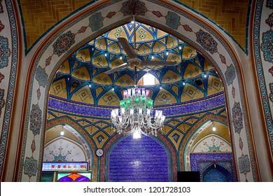 ARAN, IRAN - AUGUST 30: Helal Ali's tomb 30 August, 2018 at Aran, Iran. Helal Ali was the son of Ali, the last prophet of Islam.