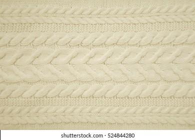 Aran woolen knitting pattern background