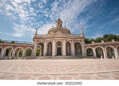 Aranjuez famous landmark, San Antonio de Padua church, Madrid, Spain.