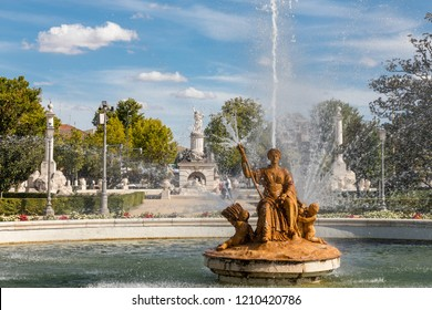 ARANJUEZ, SPAIN -  OCTOBER 13, 2018: Garden of the El Parterre in Aranjuez in the vicinity of the royal palace, OCT 13, 2018 in Aranjuez, Spain