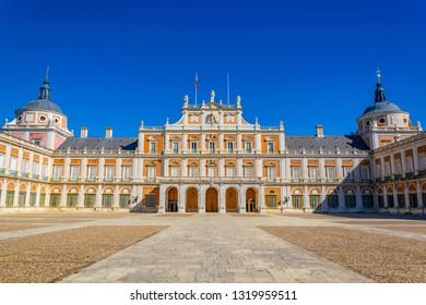 ARANJUEZ, SPAIN, OCTOBER 3, 2017: Royal palace at Aranjuez, Spain