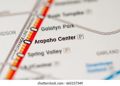Arapaho Center Station. Dallas Metro map.