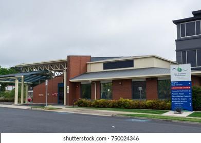 Ararat, Australia - October 22, 2017: East Grampians Health Service operates the Ararat Hospital in western Victoria. Ararat Hospital is a public hospital.