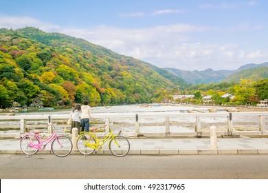 Arashiyama Kyoto japan Hozu-gawa River
