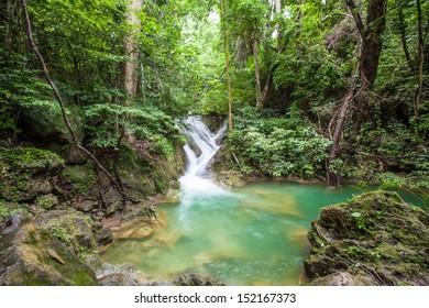arawan waterfall in Kanchanaburi Thailand