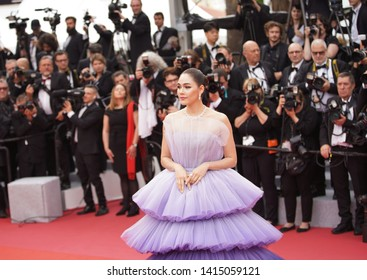"Araya Hargate attends the opening ceremony and screening of ""The Dead Don't Die"" during the 72nd annual Cannes Film Festival on May 14, 2019 in Cannes, France."
