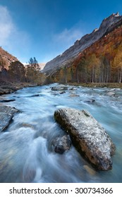 Arazas river in the Valley