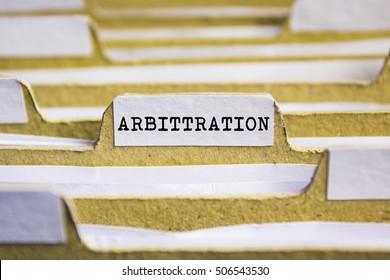 Arbittration word on card index