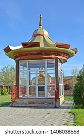 Arbor with Lama's statue of Tsonkapy (Zhe Congkapa) inside. Elista, Kalmykia