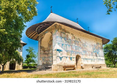 The Arbore Monastery is an Orthodox monastery built in 1502, and dedicated to the Beheading of St. John the Baptist, it isuniquely beautifully painted on the exterior
