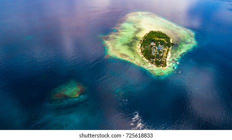 Arborek Island in Raja Ampat Regency, West Papua Province. Indonesia.,