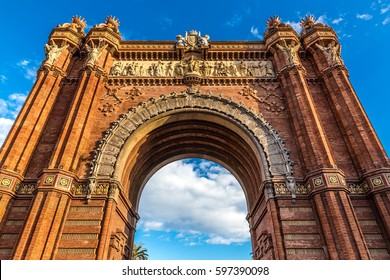 Arc de Triomf - Barcelona, Catalonia, Spain, Europe