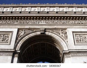 arc de triomphe architectural detail