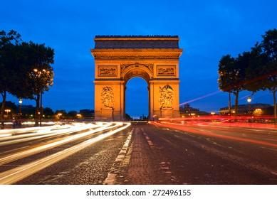 Arc de Triomphe at the Champs-Elysees in Paris, France
