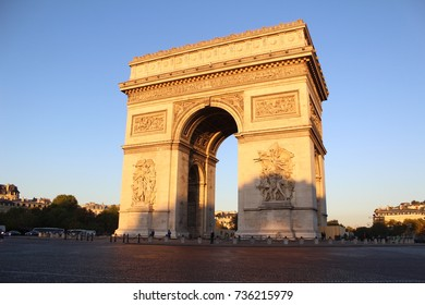 Arc de Triomphe early on an October morning.
