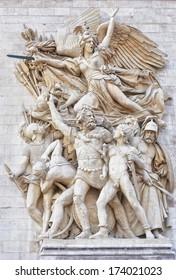 Arc de Triomphe, La Marseillaise sculpture Le Depart de 1792 (or La Marseillaise), by Francois Rude