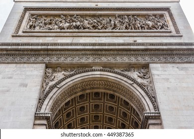 Arc de Triomphe de l'Etoile on Charles de Gaulle Place, Paris, France. Arc is one of the most famous monuments in Paris.