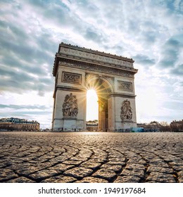 The Arc de Triomphe (meaning arch of victory), at the centre of the place de l'Étoile and the western end of the Champs-Elysées, is a very famous monument in Paris.