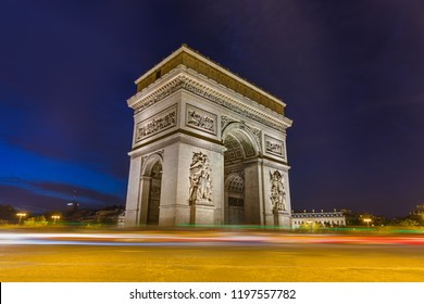 Arc de triomphe in Paris France - travel and architecture background