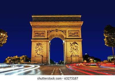 Arc de Triomphe, Paris France