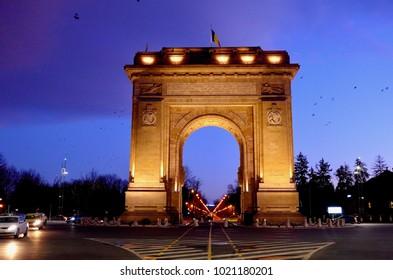 Arc de Triumph, Church of Bucharest, Romania