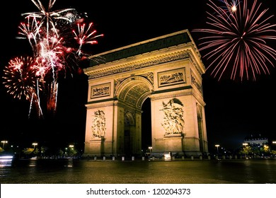 Arc de triumph is the one of the most famous monuments in Paris, France