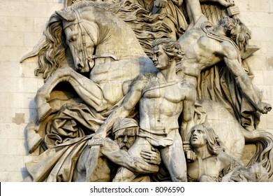 Arc de Triumph relief artwork statues