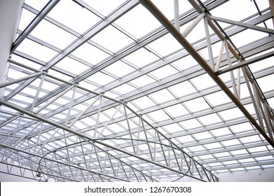 Arc polycarbonate canopy and reinforced concrete construction