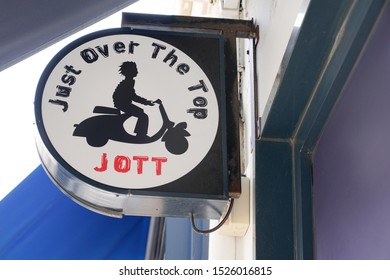 Arcachon , Aquitaine / France - 10 08 2019 : Jott Just over the top store signage French shop chain of streetwear fashion stores
