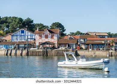 Arcachon Bay (France), the oyster village of Piraillan, near the Cap Ferret