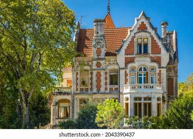 Arcachon, France - August 2021 : Luxury house in the Ville d'Hiver district in Arcachon, France
