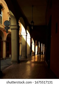 Arcades in Bologna, Italy. Light on the streets of Bologna. The old town of Bologna. - Shutterstock ID 1675517131