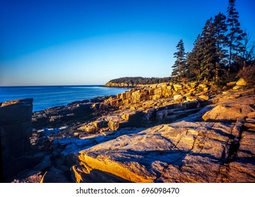 Arcadia national park in Maine coast in summer