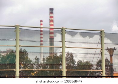 ArcelorMittal (formerly Ilva) - The windbreak and dust barrier in Taranto, Puglia, Italy - 04/05/2019