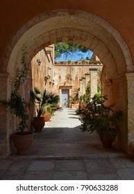 Arch Architecture at Agia Triada Tzagarolon, Chania, Crete