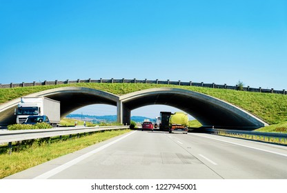 Arch Bridge at the highway Road in Maribor in Slovenia
