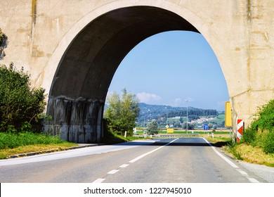 Arch Bridge in the highway Road in Maribor in Slovenia