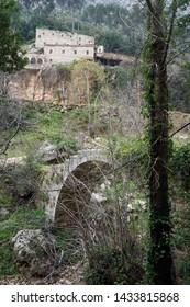 Arch bridge near St. Antoine monastery in Kadisha valley, Lebanon