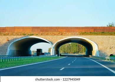Arch Bridge on the highway Road, Maribor in Slovenia