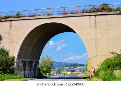 Arch Bridge on the Road in Maribor in Slovenia