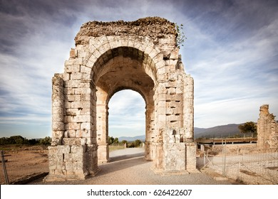 Arch of Caparra, Roman city of Caparra (Extremadura, Spain)