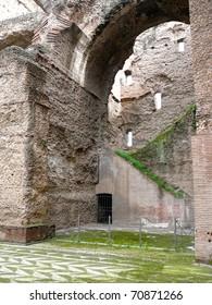Arch in Caracalla Baths Rome, Italy