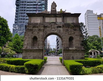 The Arch of the Centuries, one of Plaza Intramuros ruins in Manila that discovered in front of University of St.Tomas.